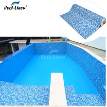Hot sale 18x33 18x34 24x52 pool liner,28 foot 45 mil oaints to paints pvc liner,membrana pvc pare piscina