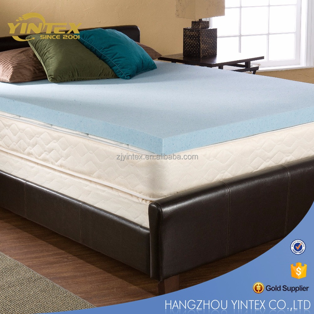 Cool GEL Memory Foam Mattress Underlay Topper Protector 8cm BAMBOO Cover Bed New