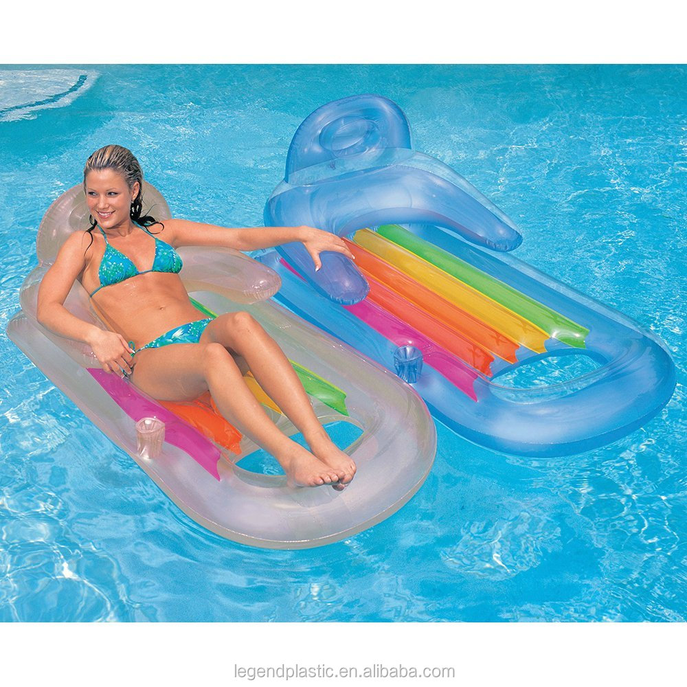 Inflatable water float/inflatable air mattress bad/confotable raft with cup holder