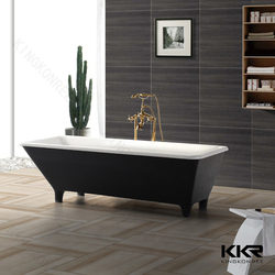 square shower bathtub with legs