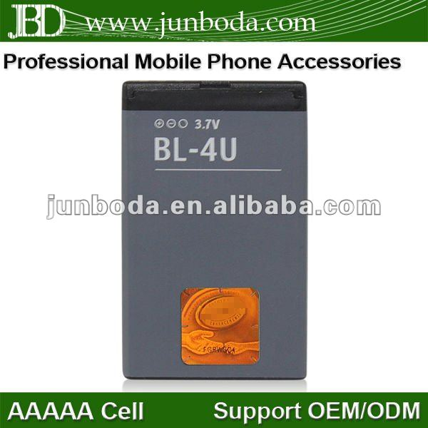 BL-4U 1000mah mobile phone battery For Nokia E66/3120C/6212C/8900/6600S/5530XM with high quality