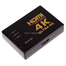 Good Quality 3D 1080p 3 Port 4K 3x1 HDMI Switch