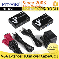 Anti-thunder vga to utp extender 100m with 3.5mm audio over single cat5e/6
