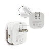 5v 2.1a 2.4a 2 in 1 car cigarette usb home charger for iPad Air ipod