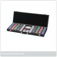 500pcs professional poker chip set with wood case PY5073