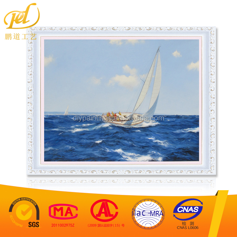Sail on the sea seascape picture diy oil painting on canvas painting by numbers for home decoration ZL140