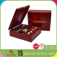 China ancient high end wiskey gift wooden box closures