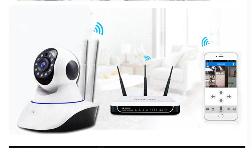 Wifi Wireless Network Ip Security Camera Baby Monitor