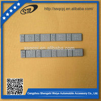 Zinc adhesive wheel balance weights for 4 wheel motorcycle