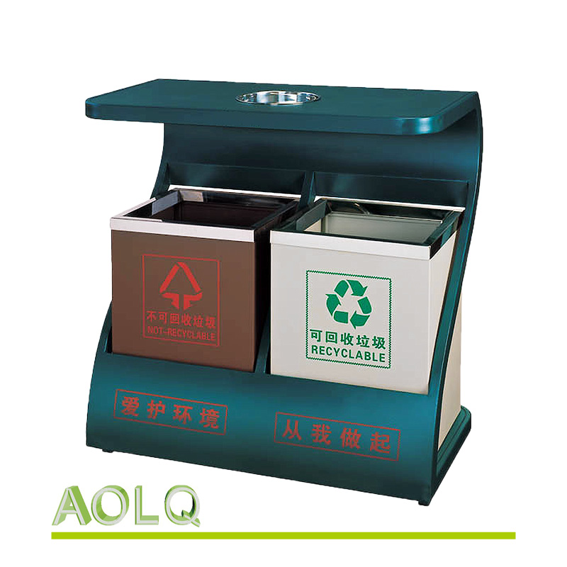 Recycling garbage incinerator, street donation box metal, advertising dustbin outdoor
