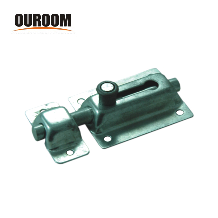 Ouroom/OEM Wholesale Products Customi 160256 Steel+Plastic Material 40mm Cupboard Door Spring Barrel Bolt With Strike And Screws