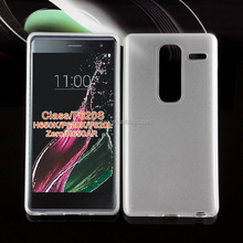 Ultra Thin Transparent Clear TPU Back Case + Screen Protector for LG Zero