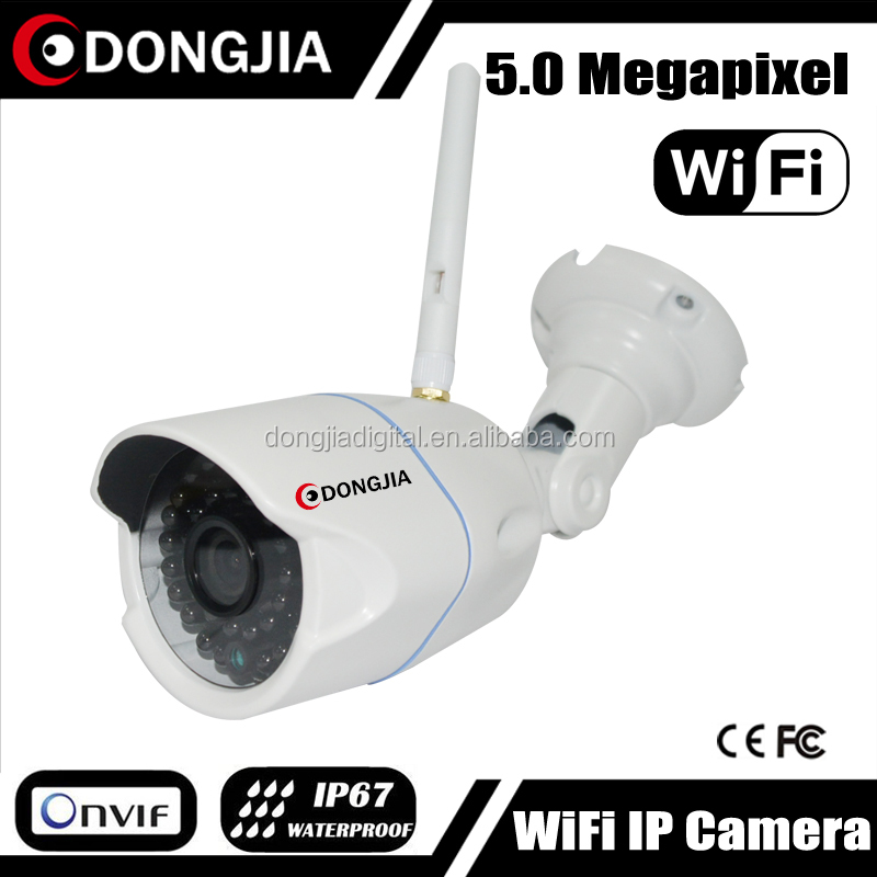DONGJIA 20m Night Vision Bullet Outdoor 9P006 5MP WIFI IP Cam Wireless Security Cameras