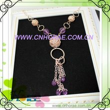 2012 long design of popular alloy sweater chain