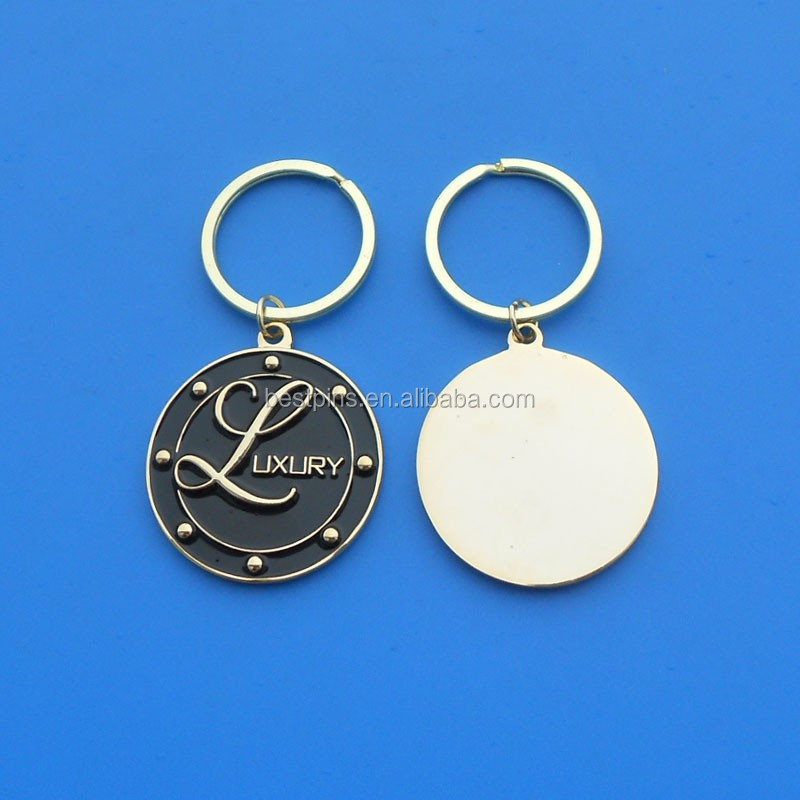 High Quality custom metal key chains manufacturer / key chains with Luxury word and fast shipping keyring factory