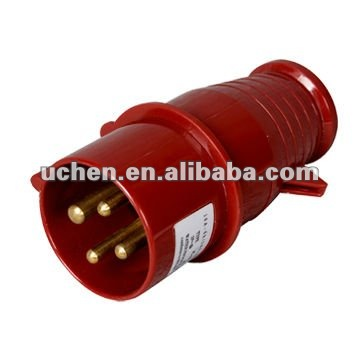 16A power plug IEC309 4 pin connector with CE certification