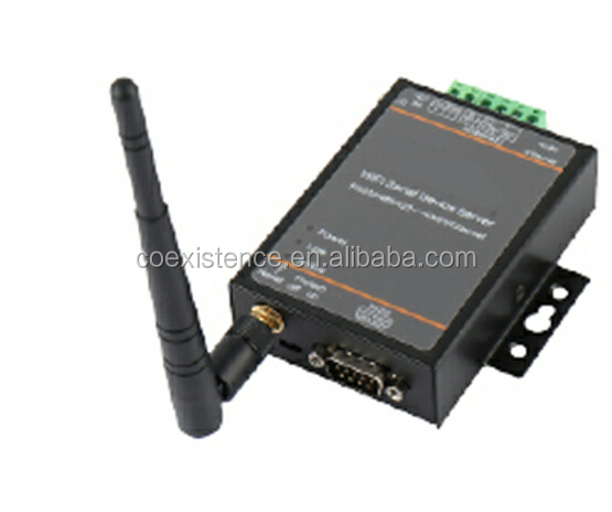Serial RS232 RS485 to Wifi 802.11 b/g/n and Ethernet Converter DTU data transfer unit with RJ45