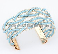 swirl wrap cuff bracelet mixed color beads metal charms for paracord bracelets