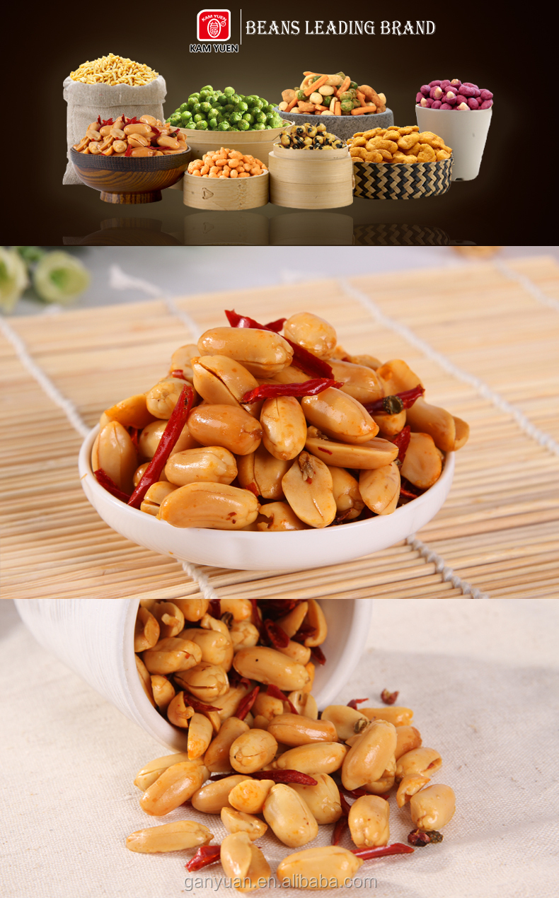 Spicy peanut kernels snack food