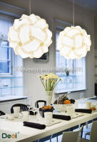 Plastic Coloured Folding Pendant Lamp Shade Used In Decorating House