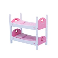 "TB034 Role Play Wooden Wholesale 18"" Doll Furniture With Mattress, Wooden Toy Bed, Cheap Woonden Toy"