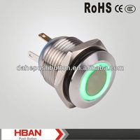CE ROHS waterproof on-off push button switch