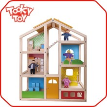 Big Kids & Baby Miniature Furniture Happy Family Play Wooden Toy Doll House
