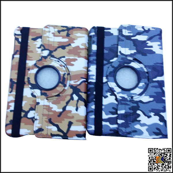 Hot selling camouflage pattern Flip leather case for ipad 5, protective case