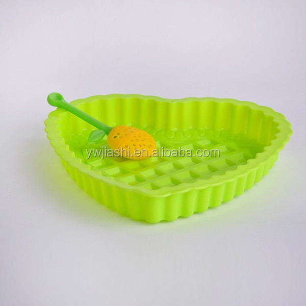 Sweet heart shape silicone bread pan food grade silicone cake pan