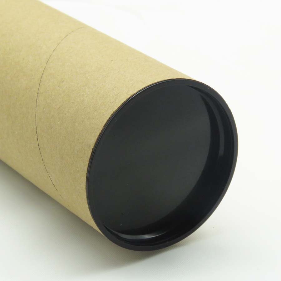 round kraft postal mailing packaging paper <strong>tube</strong> with plastic caps