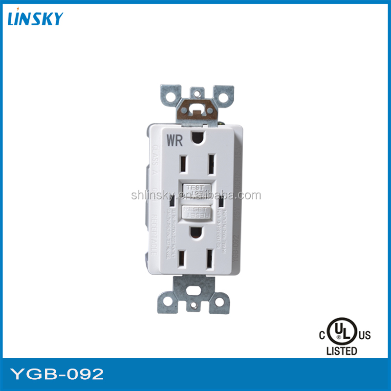 Shanghai Linsky approved American UL listed GFCI receptacle tamper breaker from China