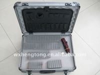 Aluminum tool case with diced foam pack