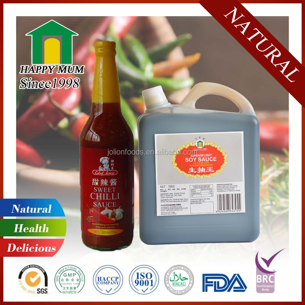 Halal Light Sushi Soy Sauce Natural Brewed Chinsu Sweet Chilli Sauce