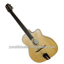yunzhi fully handmade and solid wood archtop gypsy guitar