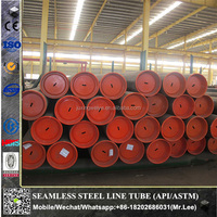 API 5L Grade X52, X60, X65 steel line pipe carbon steel seamless pipe