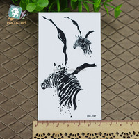 HC-197/Newest 2016 Black Body Tattoo Stickers Special Horse Tattoo Pattern Waterproof Temporary Tattoos For Men