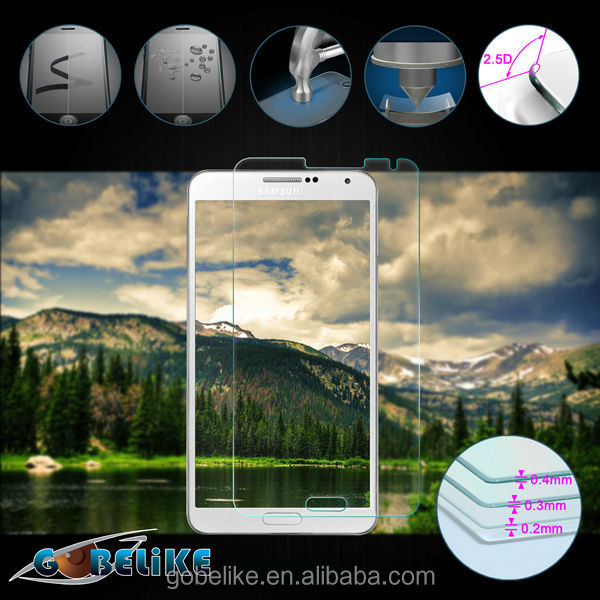 9H Round Edge Tempered Glass Screen Protector for Samsung Note 3, Screen Protector/Guard Manufacture