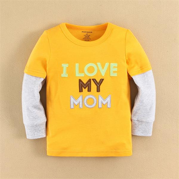 mom and bab 2015 NEW Summer Design Latest Embroideried Baby Tshirt for Girls