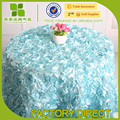 luxurious rosette table cloth for wedding and Restaurant table clothes