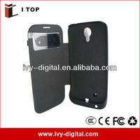 High Capacity 3500mAh For Samsung i9500 Galaxy S4 External Battery Case With Flip Cover (SE036-2)