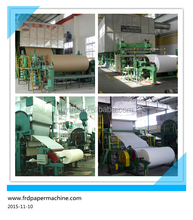 12 months Warranty , Toilet Paper Roll Making Machine, Waste Recycle from Qinyang FRD