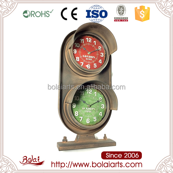 Good quality brands home decoration traffic light shaped clock asny craft factory with BSIC certification