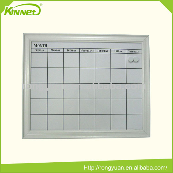 magnet board with calendar