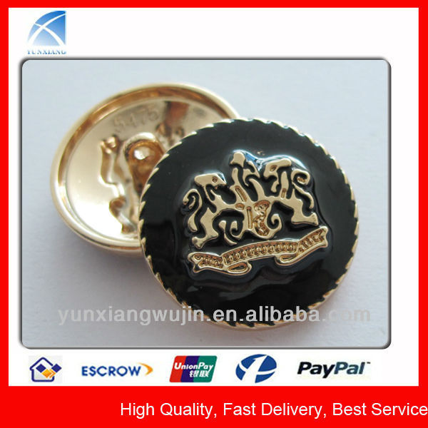 YX5475 Enameled Custom Coat Button Covers Wholesale