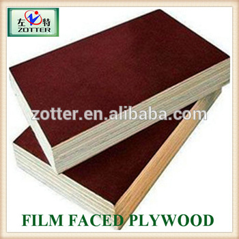Two times 12mm/15mm 18mm size Cheap Reused Melamine Glue Water proof Film Faced Plywood prices
