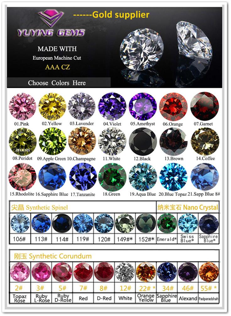 High quality Loose Cubic Zirconia Round Diamond cut white gemstone ...