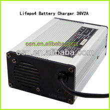 36V 10Ah ebike Battery 2A Lifepo4 Charger