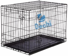 "42"" Folding Double Door Pet Crate Kennel Cage for Dogs, Cats, Rabbits"