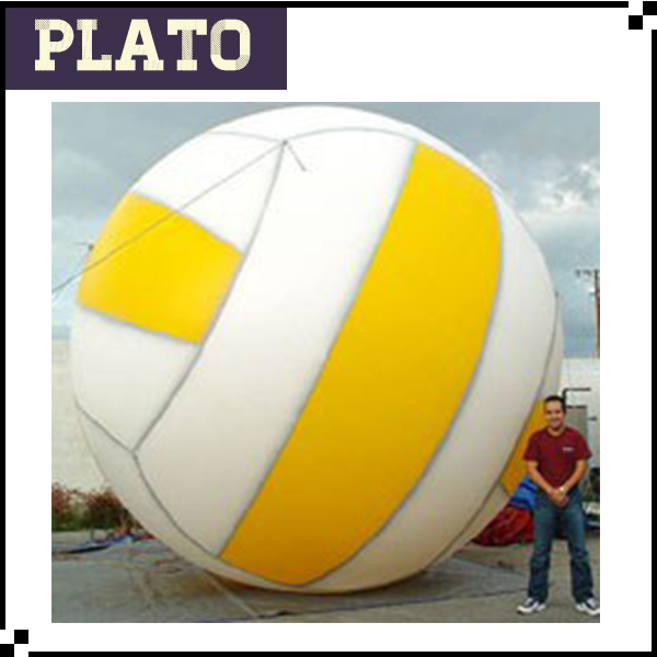 giant advertsing inflatable volleyball ball, customized inflatable volleyball model for sale