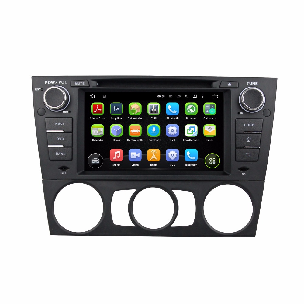 Portable Android pioneer car audio for BMW MT E90 2005